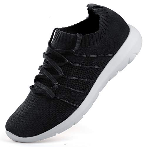 EvinTer Women's Running Shoes Lightweight Comfortable Mesh Sports Shoes Casual Walking Athletic Sneakers Black