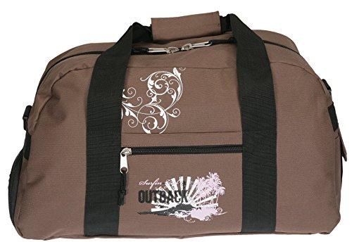 Spear Sporttasche mit Schuhfach/Naßfach Sport Tasche + Trinkflasche (Outback Braun)