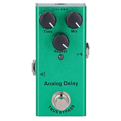 Keenso Guitar Bass Effects Pedal DC 9V JDF‑10 Mini True Bypass Analog Delay Portable Aluminum Alloy Musical Instrument Accessories