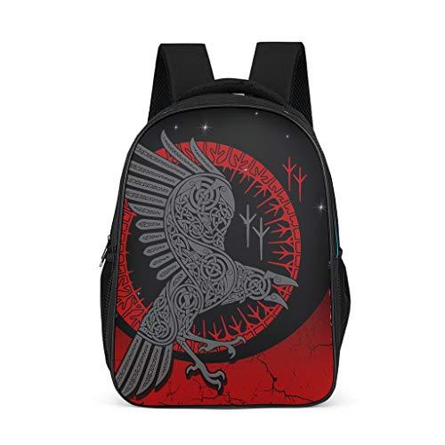 Hochwertiger Viking Raven Pullover Kinder Rucksack Verstellbare Schulter - Lässiger Tagesrucksack für Grills Hellgrau Einheitsgröße