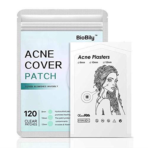Akne-Pickel-Heilpflaster, Hautmarken-Entferner, absorbiert Hydrokolloid, Hautunreinheiten, Punktebehandlung, Pflegeverband, Akne-Narbenfreie Aufkleber (120 runde Pflaster)