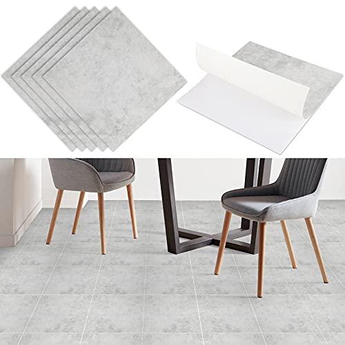 LC&TEAM PVC Bodenbelag selbstklebend 4,5 m²/Set Vinylboden Quadrat PVC Laminatdielen selbstklebend Vinyl Boden abriebfester Steinoptik Bodenfliesen Fliesenformat Fußbodenbelag Klebefolie Dekorfolie