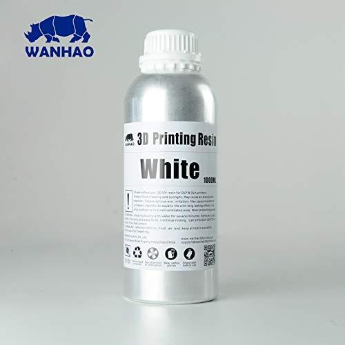 Wanhao 22342 - Impresora 3D UV Resina 1000ml Blanco