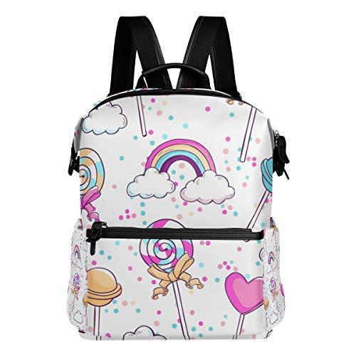 MALPLENA Rainbow Lollipop Mochila escolar Daypack Senderismo Mochila
