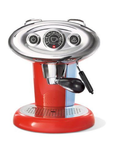 illy Kaffeemaschine X7.1, Iperespresso-Kapselkapsel-Kapseln, Kaffeemaschine mit Milchdampfgarer, Rot