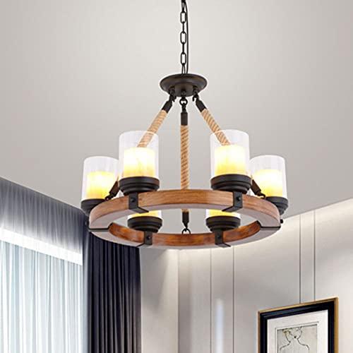 Lámpara De Araña De Cuerda De Cáñamo Moderna E27 Luces Colgantes De Estilo Industrial Creativo, Lámparas De Ratán De Cáñamo Hechas A Mano Nórdicas, Adecuadas para: Restaurantes