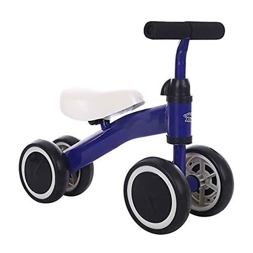 TINE Bicicletta da Bambino Girello Giocattoli da Equitazione per Bambini di 10+ Mesi Ragazzi Ragazze Senza PedaleBicicletta da Bambino con Altezza Regolabile Miglior Primo Regalo di Compleanno Blue,