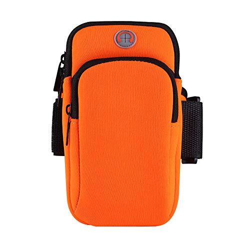 Gogogo-Sac à Bras de téléphone Portable,Petit Sac Étanche pour Courir Fitness Sport,Ajuster l'étanchéité-Orange