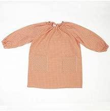 10XDIEZ Bata Escolar Unisex Naranja - Medida Bata Infantil - 4 años (98-104 cm de Altura)