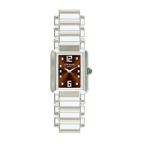 Locman Italy Mujer Reloj Giancarlo NUTRI marrón Titan/Acero Ref. 670