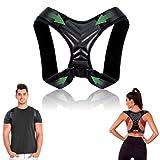 Corrector de postura - Corrector de espalda y hombros ajustable y transpirable - Chaleco corrector de postura para aliviar dolor - Faja soporte espalda para hombre y mujer (M)