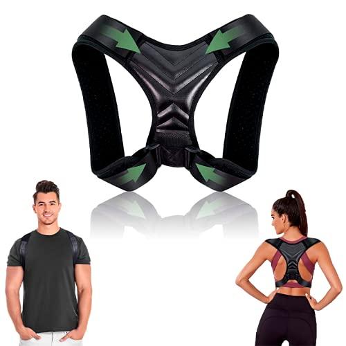 Corrector de postura - Corrector de postura de espalda y hombros ajustable y transpirable - Chaleco corrector de postura para aliviar dolor - Faja soporte espalda para hombre y mujer