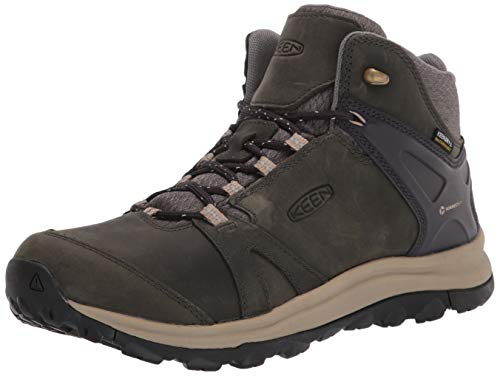 KEEN Women's Terradora 2 Mid Height Leather Waterproof Hiking Boot, Magnet/Plaza Taupe, 9