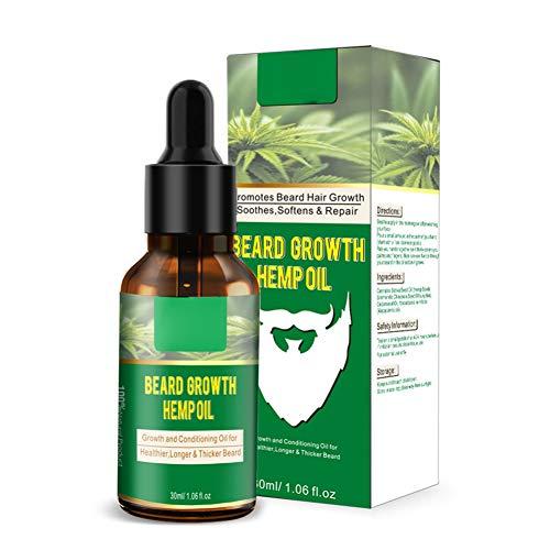 Allbestaye Aceite de barba Acondicionador de crecimiento de barba para
