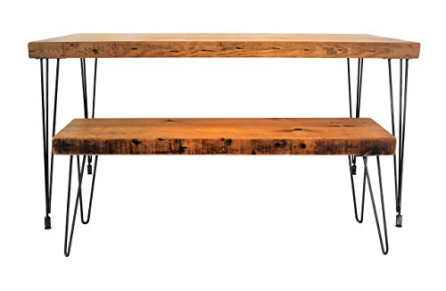 Handmade Reclaimed Wood Dining Table | Salvaged Barn wood | 1.65 Inches Thick | 24 Inches Wide | FREE SHIPPING