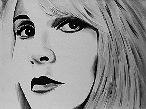 Buyartforless Canvas Stevie Nicks Painting Gallery Wrapped Wall Decor by Ed Capeau (12x16)