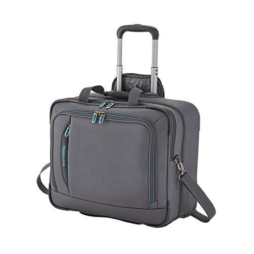 travelite 2-Rad Weichgepäck Koffer Handgepäck erfüllt IATA Bordgepäck Maß, mit Laptopfach bis 17 Zoll, Gepäck Serie CROSSLITE: Robuster Trolley im Business Look, 089506-04, 41 cm, 42 L, anthrazit