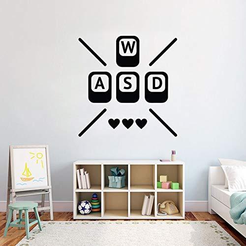 Pegatinas de pared de jugador, pegatinas de pared de videojuegos, pegatinas de pared de vinilo personalizadas para dormitorio para niños A5 57X58CM