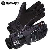 Best Warmest Gloves - SKYDEER Waterproof Deerskin Suede Leather Cold Weather Ski Review