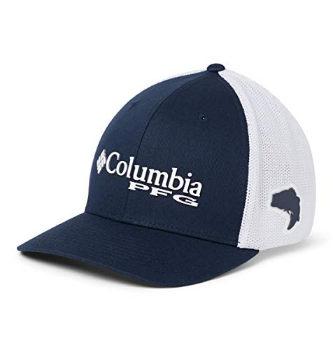Columbia PFG Mesh Gorra Ajustada, Hombre, Azul (Collegiate Navy), L/XL