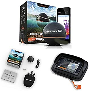 Deeper Smart Sonar Pro + Plus WiFi GPS Echolot Fishfinder + Funda para Smartphone