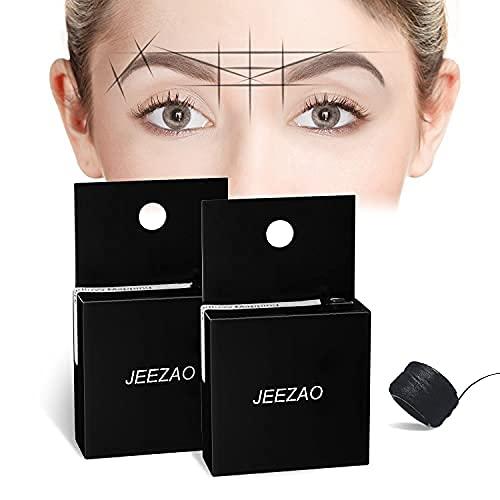 Augenbrauen Vorgefaerbter Faden Mikroblading,Mapping String,Microblading Zubehoer Schwarz