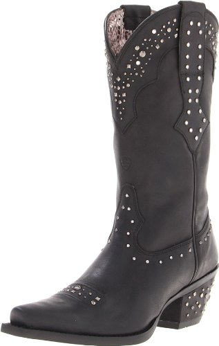 Hot Sale Ariat Women's Rhinestone Cowgirl Boot,Black,8 M US