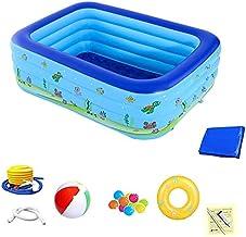 Portable Summer Toys Opvouwbaar opblaasbaar zwembad for kinderen slijtvaste Dik Backyard Zwembaden for Family (Color : Fou...