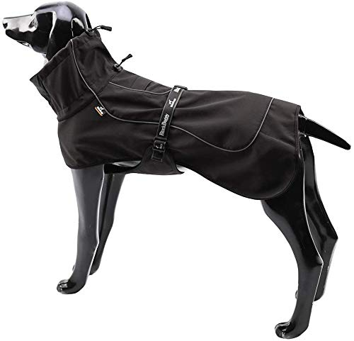 Tellpet Winter Dog Coats Cold Weather Clothes Reflective Waterproof Warm Dog Jackets,X-Large Dogs, Black