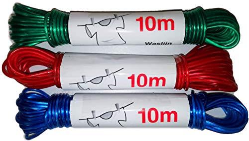 Corde à linge 10,00 m., couleurs assorties