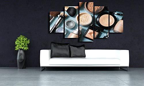 Quadro su Tela 5 Pezzi cosmetici Multipannello Moderno Stampe e Quadri su Tela Soggiorno Camera da Letto Murale da Parete Casa Decor Arte Regalo Creativo con Cornice 100x55 cm