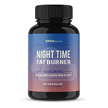 MAV Nutrition Weight Loss Pills Night Time Fat Burner for Women & Men | Sleep Aid Diet Pills Appetite Suppressant Metabolism Boost Carb Blocker  60 Count