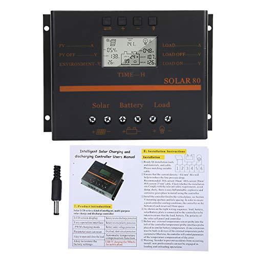 Panel solar de carga PWM controlador de carga solar universal 12V/24V 80A para el control del generador