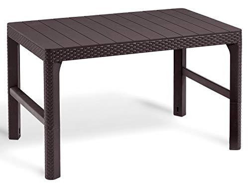 Alibert Lyon Tisch 2in1 Gartentisch Lounge Witterungsbestänig Höhenverstellbar
