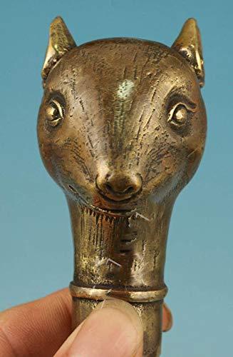 Yunhao8 - Rata China de Bronce con Cabeza de bastón, Bronce Envejecid