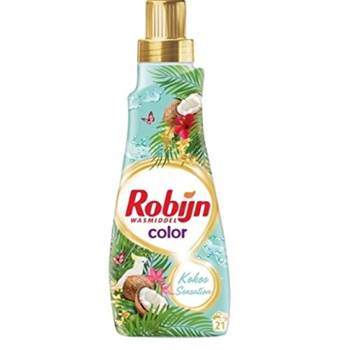 8 stuks - Robijn vloeibare wasmiddel Color - Kokos Sensation - 21 wasbeurten - 735 ml