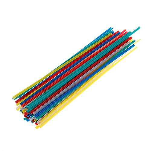 Verakee Ztengyu-Varillas para soldar Barras de Soldadura de plástico multicoloras de 50 Unids 200 mm, para Herramienta de Soldador, ABS/PP/PVC/PE Soldando Palos, Rendimiento Estable