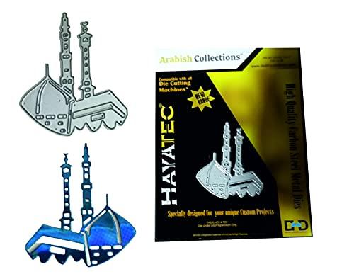 Hayatec (Hajj&Haram) - Stencil in metallo per fustellare Eid Mubarak, a forma di stella