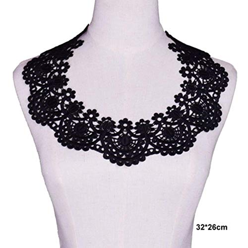 Schwarze Stickerei Venise Lace Neckline Collar Embellishment Nähapplikationen Borten Lace Fabric Dress Supplies Scrapbooking, 12
