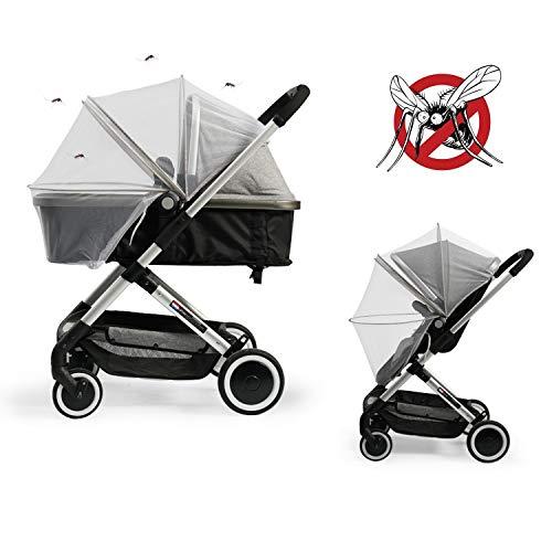 Universele bescherming tegen insecten, muggennet voor kinderwagen, sportwagen, joggers en reisbed, premium kwaliteit, scheurvast en wasbaar, insectennet, vliegennet, muggennet