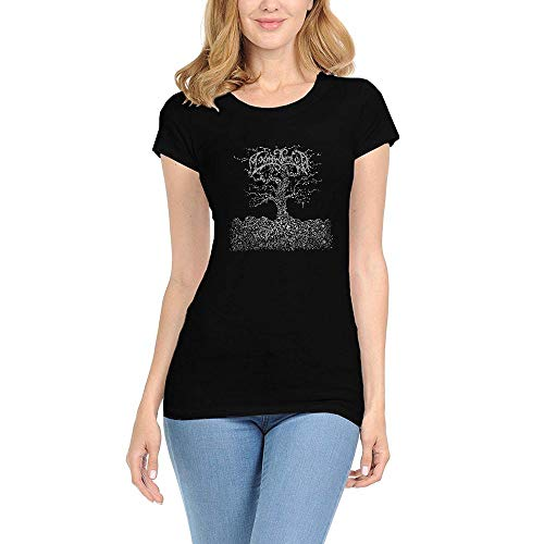 CHENYINJJ Damen Moonsorrow Jumalten Aika Round Collar T-Shirt Small