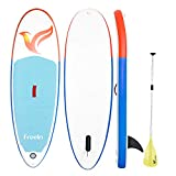 "Freein Inflatable Stand Up Paddle Board 7'8"" Long Inflatable SUP for Youth"