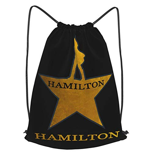 Crazy Caa Hamilton Mens Gym Unisex Drawstring Backpack Sports Bag Rope Bag Big Bag Drawstring Tote Bag Gym Backpack