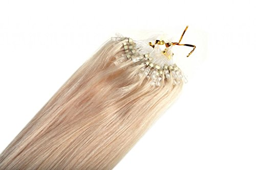 20inch Emosa Stick Micro Loop Straight Human Hair Extensions 50g 100strands #60 Light Blonde