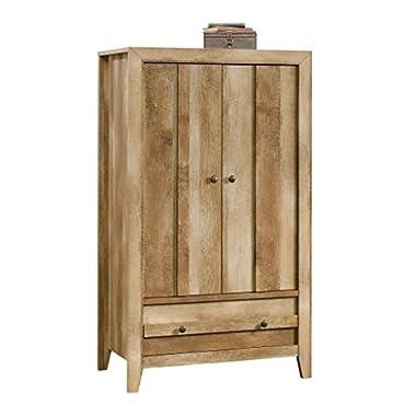 Sauder 419077 Armoire, Wardrobe, Furniture Dakota Pass, Craftsman Oak