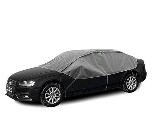 Abdeckplane Halbgarage Sonneschutz, Schneeschutz, UV Schutz, Winter & Sommer Größe Lsedan kompatibel mit Audi A3 8V