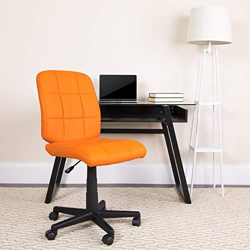Flash Furniture Mid-Back Orange Quilted Vinyl Swivel Task Chair