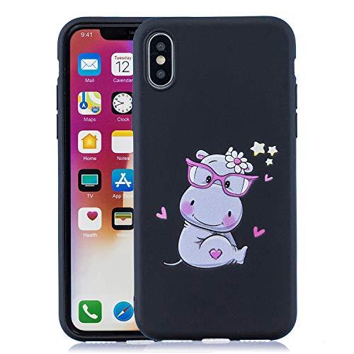 DiaryTown Compatibel met iPhone XR-hoes, schokbestendige telefoonhoes, (Zwarte paard van de pad)