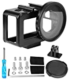 abcGoodefg Housing Case Alloy Protective Skeleton Frame with 52mm UV Filter and Lens Cap for DJI Osmo Hero 5/6/ HERO7 Action Camera with ens Cap and Rear Door