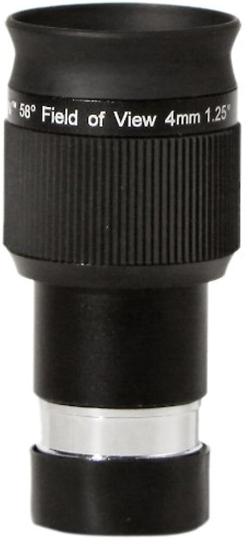 Olivon 58Degree Field of View HD 1 1 4Inch Eyepiece, Black, 4mm